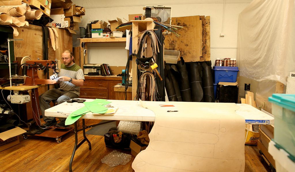 Leathercraft at Manitou Art Center in Manitou Springs, Colorado