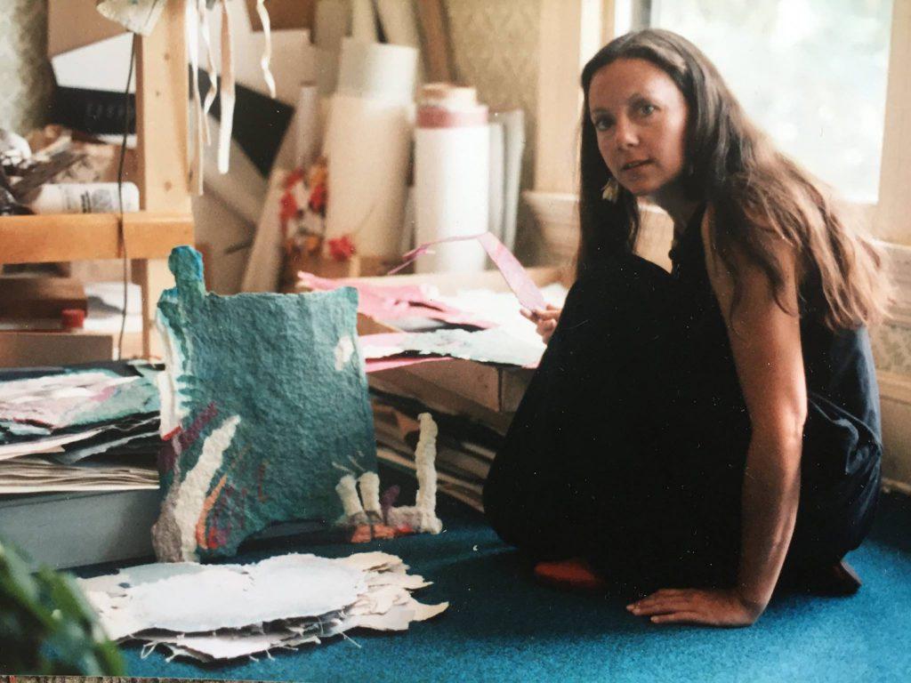 Deborah Thornton at Business of Art Center in 1986 in Manitou Springs