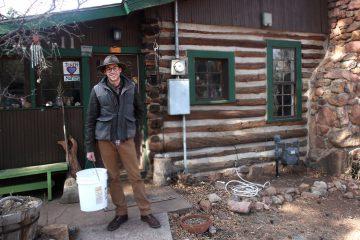 Steve Oliveri at Flying Pig Farm   Manitou Springs, CO