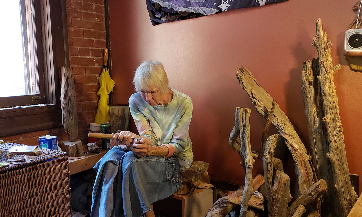 Sophie Cowman, Wood Carver + Quilter | Humanitou Yoga + Creativity Blog