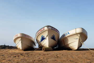 Fishing Boats in San Agustinillo, Oaxaca | Humanitou Poetry